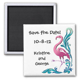 Flamingo Save the Date Magnet