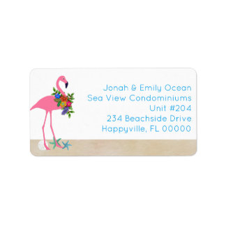 Flamingo Seaside Living Holiday Label