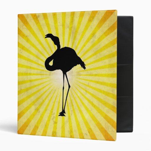 Flamingo Silhouette 3 Ring Binder