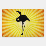 Flamingo Silhouette Lawn Signs