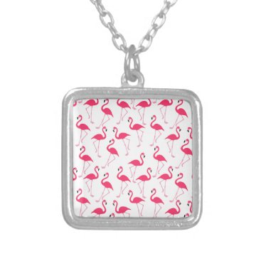 Beach Themed Flamingo Silver Plated Necklace