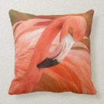 Flamingo - Spirit Of Balance Art Designer Pillow