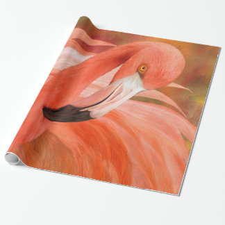 Flamingo - Spirit Of Balance Art Giftwrap Wrapping Paper