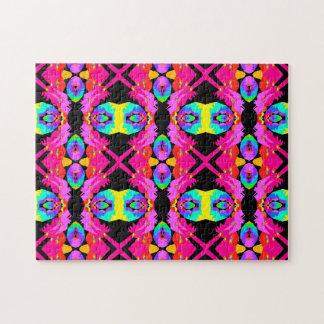 Flamingo Splash Tile Fractal Art Puzzle