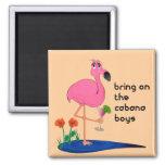 Flamingo Square Magnet