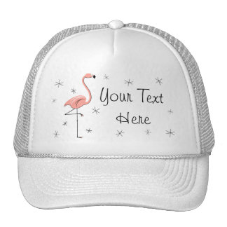 Flamingo Stars 'Text' Trucker hat