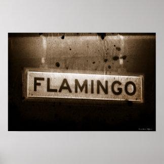 Flamingo Street Sign Vegas Poster