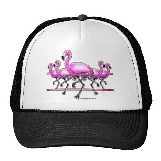 Flamingo Strip Trucker Hat