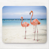 Flamingo Stroll Mouse Pad