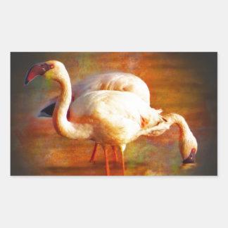 Flamingo Sun Rectangular Sticker
