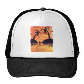 Flamingo Sunset Trucker Hat