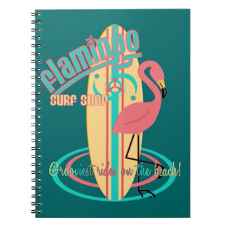 Flamingo  Surf Shop Notebook