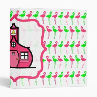 Flamingo Teacher Binder - Pink and Green Pattern