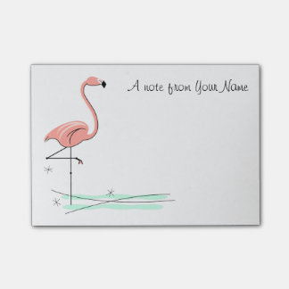 """Flamingo """"Text"""" Post-it Notes"""