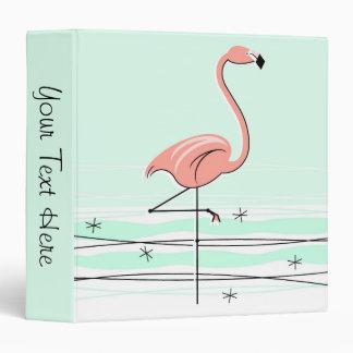 Flamingo 'Text' ring binder green