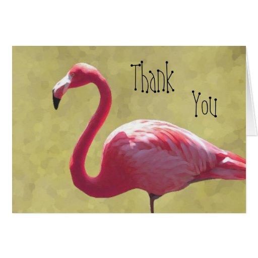 Flamingo Thank You Card