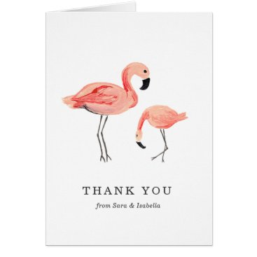 Toddler & Baby themed Flamingo Thank You Card