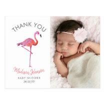Flamingo   Thank You   Photo Postcard