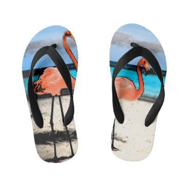 Beach Themed Flamingo Toddler Flip Flops
