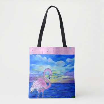 Beach Themed Flamingo Tote Bag