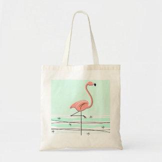 Flamingo tote bag green