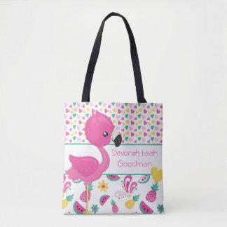 Flamingo tote bag - personalized