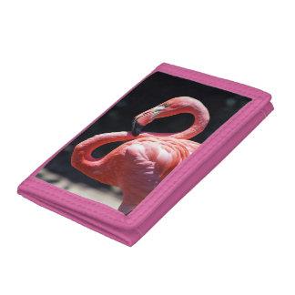 Flamingo Trifold Nylon Wallet