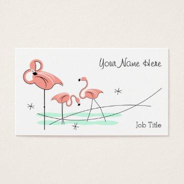 Professional Business Flamingo Trio business card