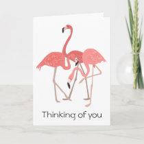 Flamingo Trio Thinking of You Card