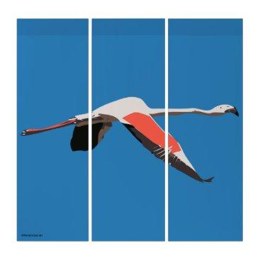 Art Themed Flamingo Triptych