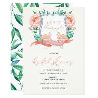 Flamingo Tropical Bridal Shower Invitation