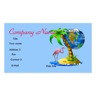 Flamingo Tropical Business Card