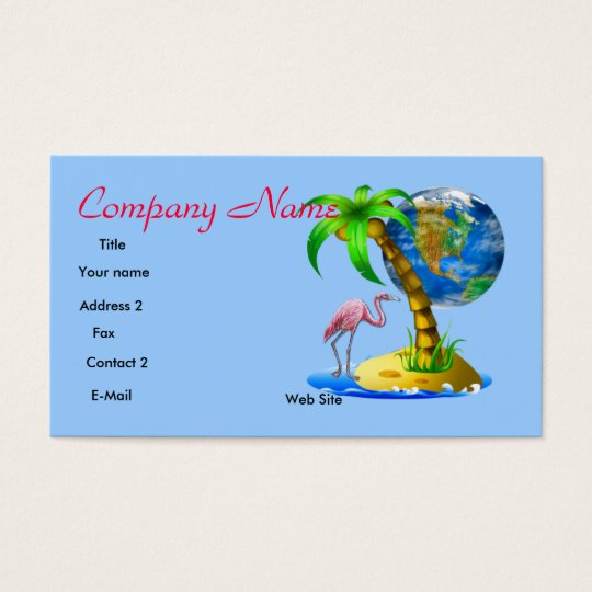 Flamingo Tropical Business Card