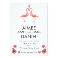 Flamingo tropical wedding invitation card | Suite