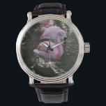 """Flamingo watch<br><div class=""""desc"""">tell time with a new friend</div>"""