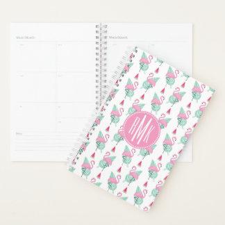 Flamingo & Watermelon Pastel Pattern Planner