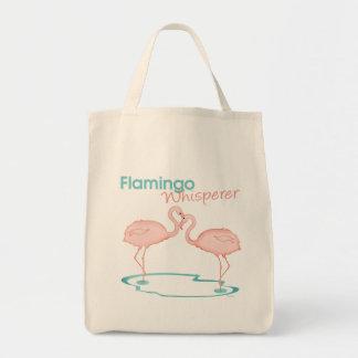 Flamingo Whisperer Grocery Tote Bag