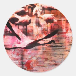 Flamingo Wisdom Classic Round Sticker