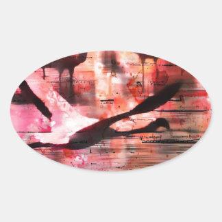 Flamingo Wisdom Oval Sticker
