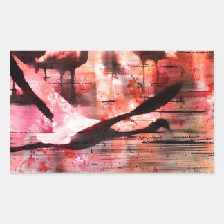 Flamingo Wisdom Rectangular Sticker