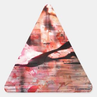 Flamingo Wisdom Triangle Sticker