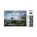 Flamingo Wonderland Tea Party Baby Shower Postage Stamp