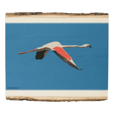 Art Themed Flamingo Wood Panel