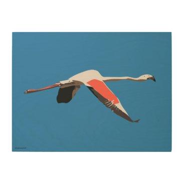Art Themed Flamingo Wood Wall Decor