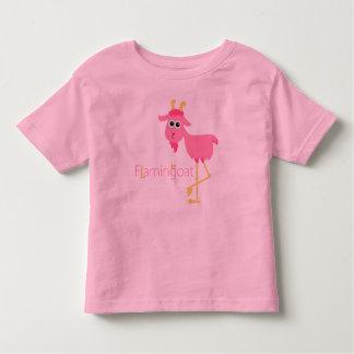 Flamingoat Toddler Girl Ringer Shirt