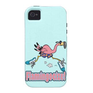 flamingocize el dibujo animado del flamenco que ac Case-Mate iPhone 4 carcasas
