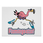 flamingocize jogging flamingo cartoon print