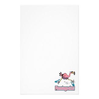 flamingocize jogging flamingo cartoon stationery