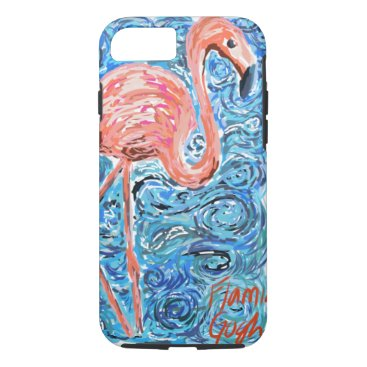 Beach Themed Flamingogh Masterpiece iPhone 7 Case