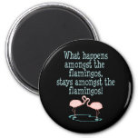 Flamingos 2 Inch Round Magnet